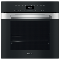 MIELE 60CM PURELINE CLEAN STEEL PYROLYTIC OVEN - H7464BP