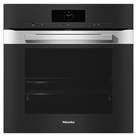 MIELE 60CM PURELINE CLEAN STEEL PYROLYTIC OVEN - 17 FUNCTIONS - H7860BP