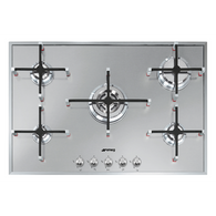 SMEG 75CM LINEA STAINLESS STEEL GAS COOKTOP - PX7502AU