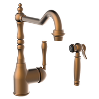 ARMANDO VICARIO BRONZE PROVINCIAL TAP WITH SIDE PULLOUT SPRAY - 400073BR