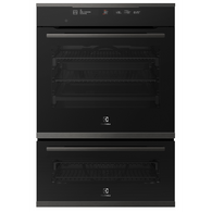 ELECTROLUX 60CM BLACK MULTIFUNCTION PYROLYTIC DUO OVEN - EVEP626SD