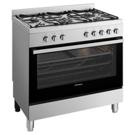 WESTINGHOUSE 90CM STAINLESS STEEL DUAL FUEL FREESTANDING COOKER - WFE904SC