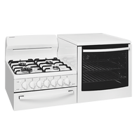 WESTINGHOUSE ELEVATED GAS FREESTANDING COOKER OVEN - WDG103WB