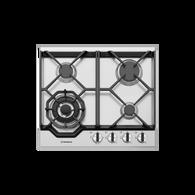WESTINGHOUSE 60CM STAINLESS STEEL4 BURNER GAS COOKTOP - WHG648SC