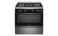 ELECTROLUX 90CM DARK STAINLESS STEEL ELECTRIC FREESTANDING DUAL FUEL COOKER - EFEP916DSD