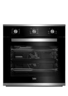 BEKO 60CM STAINLESS STEEL BUILT-IN OVEN - BBO60S0MB