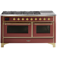 ILVE 150CM MAJESTIC SERIES 7 BURNER WITH SIMMER PLATE FREESTANDING COOKER - MI5SDNE3