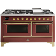 ILVE 150CM MAJESTIC SERIES 7 BURNER WITH TEPANYAKI PLATE FREESTANDING COOKER - M15FDNE3