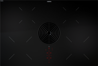 BORA 83CM PURE 4 ZONE INDUCTION COOKTOP WITH EXHAUST AIR EXTRACTOR - PURA