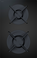 BORA CLASSIC 2.0 BLACK CERAMIC GAS 2 ZONE COOKTOP - CKG