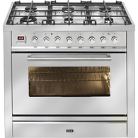 ILVE PROFESSIONAL SERIES 90CM STAINLESS STEEL DUAL FUEL FREESTANDING OVEN - NT96WMP/SS
