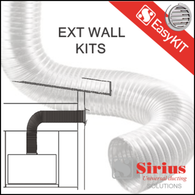 SIRIUS 150MM EASY WALL DUCTING KIT - EASYWALL-150