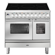 ILVE 90CM PROFESSIONAL PLUS 5 ZONE INDUCTION FREESTANDING DOUBLE COOKER - PDI09WE3 + COLOUR OPTIONS