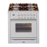 ILVE 70CM DUEL FUEL FREESTANDING OVEN - SELF CLEANING - PW70MP