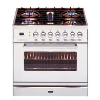 ILVE 80CM DUEL FUEL FREESTANDING OVEN - SELF CLEANING - PW80MP