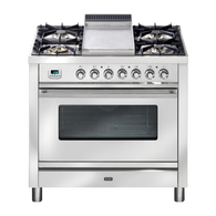 ILVE 90CM QUADRA SERIES DUAL FUEL FREESTANDING OVEN - SELF CLEANING - PW90FMP