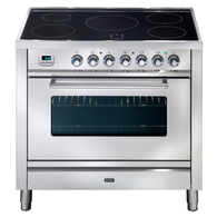 ILVE 90CM QUADRA SERIES FREESTANDING OVEN WITH FULL INDUCTION COOKTOP -  PWI90MP