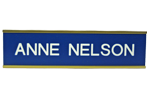"""Shown here is 2"""" x 10"""" Gold Metal Wall Frame with Sign Plate (W35) from Cool School Studios."""