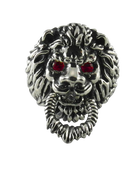 The Guardian - Sterling Silver Lion Head Knocker Ring