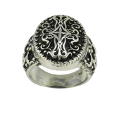 Intricate Celtic Knot Cross Ring