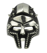 Gladiator Helmet with Spikes Ring in Sterling Silver