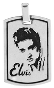 "The King of Rock & Roll: Elvis Presley Dog Tag with 24"" Link Chain"