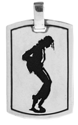 "The King of Pop: Michael Jackson Dog Tag with 24"" Link Chain"