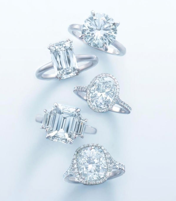 Kwiat Engagement Rings in Various Shapes