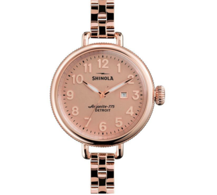 The Birdy in Rose Gold by Shinola Womens Watch