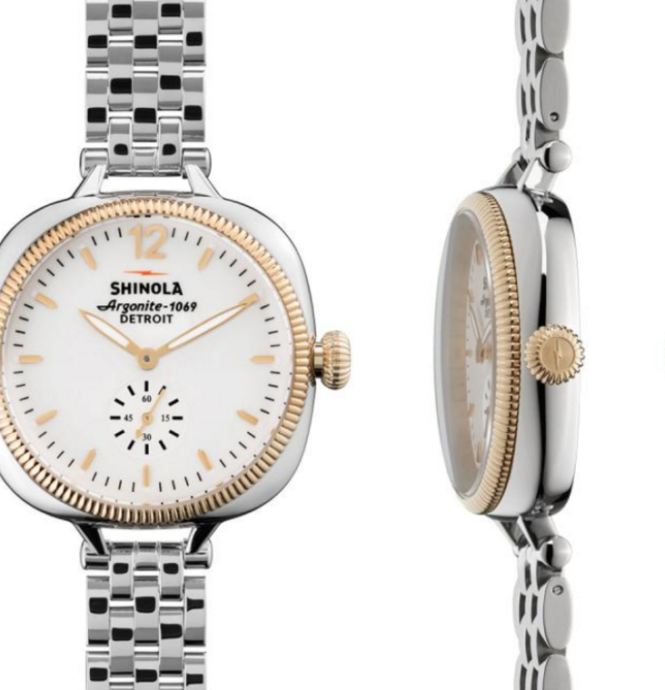 The Gomelsky by Shinola womens watch in rose gold and stainless steel
