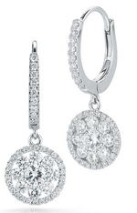 Roberto Coin Fantasia 18K White Gold Diamond Earrings
