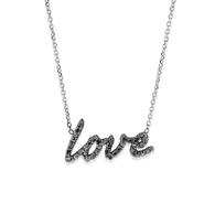 KC Designs Black Diamond Love Necklace in 14k White Gold and Black Rhodium with 37 Black Diamonds