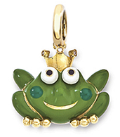 Aaron Basha 18K Yellow Gold Frog Prince (Medium)