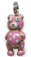 Aaron Basha 18K Gold Teddy Bear with Polka Dots (Large)