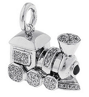 Aaron Basha 18K White Gold Choo Choo Train