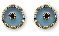 Aaron Basha Blue Topaz Evil Eye (Medium)