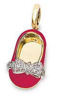 Aaron Basha Fluorescent Pink Diamond Bow Shoe