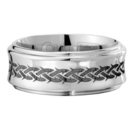 Scott Kay Native Wedding Band Braided Thorns Concave