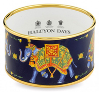 HALCYON DAYS CEREMONIAL INDIAN ELEPHANT BLUE CUFF