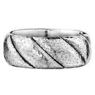 Scott Kay Braid Wedding Band Distressed Metal