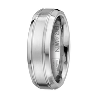 Scott Kay Prime Wedding Band Double Stripe with Angled Edge