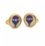HALCYON DAYS BALLOON ROUND CUFFLINKS