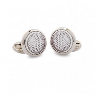 HALCYON DAYS GOLF BALL ROUND CUFFLINKS