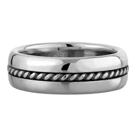 Scott Kay Braid Wedding Band Single Braid Thick