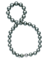 Mikimoto Black South Sea Pearl Necklace