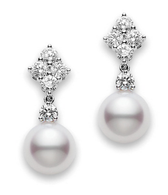 MIKIMOTO Classic Elegance Drop Earrings 3/4ctw