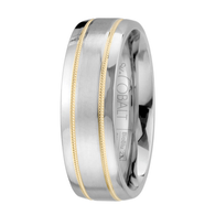 Scott Kay Unity Yellow Gold Wedding Band Double Gold Stripe
