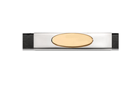 Grand Band Classic Collection Sterling Silver Plain w/14Kt. Yellow Gold Engraveable Plate