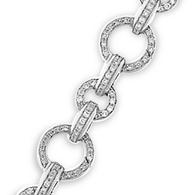 Aaron Basha 18K White Gold Basha Pave Open-Link Bracelet