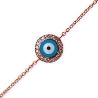 Aaron Basha 18K Pink Gold Evil Eye Bracelet (large)